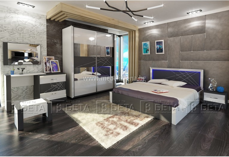 Комплект мебели за артистично обзаведена спалня